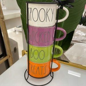 Rae Dunn Double Sided Halloween Mug Set -NWT🎃